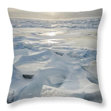 Minnesota, United States Of America Ice Throw Pillow by Susan Dykstra