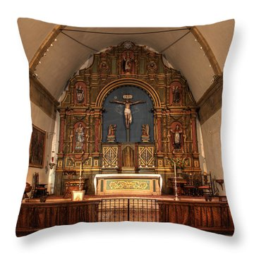 Mission San Carlos Borromeo De Carmelo  11 Throw Pillow by Bob Christopher
