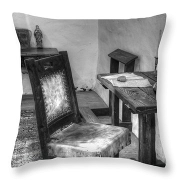 Mission San Diego De Alcala Writing Table Throw Pillow by Bob Christopher
