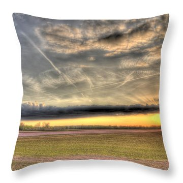 Missouri Bottoms Morning Glory Throw Pillow by William Fields