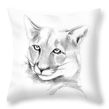 Missouri Mountain Lion  Throw Pillow by Kip DeVore