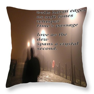 Mist 1 Throw Pillow by Richard Donin