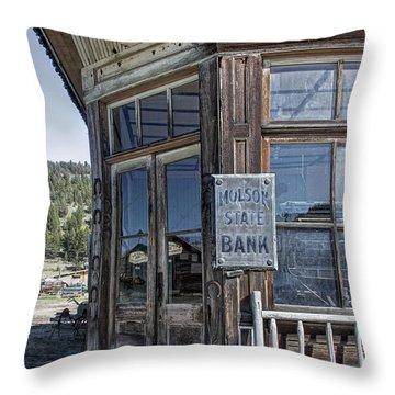 Molson Washington Ghost Town Bank Throw Pillow by Daniel Hagerman