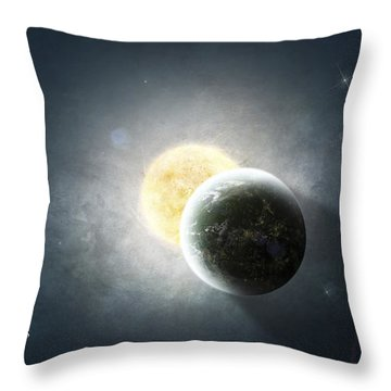 Moments Before A Total Eclipse Throw Pillow by Tomasz Dabrowski