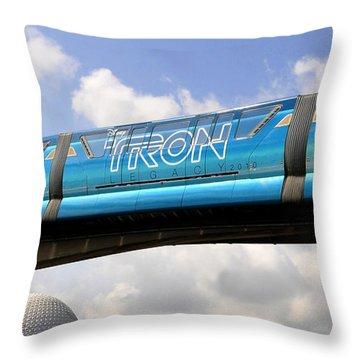 Mono Tron Throw Pillow by David Lee Thompson