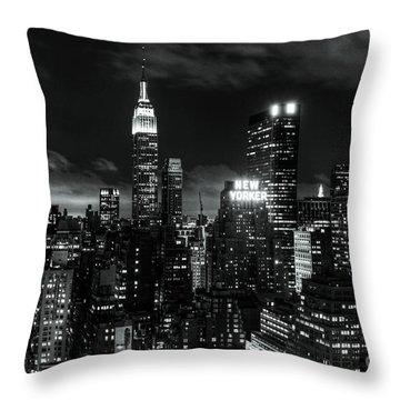 Monochrome City Throw Pillow by Andrew Paranavitana