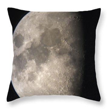 Moon Against The Black Sky Throw Pillow by John Short