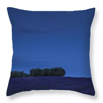 Moon Over Lavender Throw Pillow by Brian Jannsen