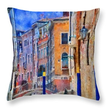 Morning Calm In Venice Throw Pillow by Jeff Kolker