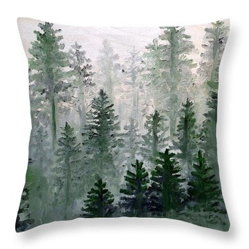 Morning In The Mountains Throw Pillow by Shana Rowe Jackson
