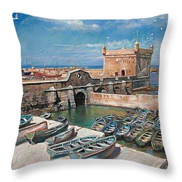 Morocco Throw Pillow by Ylli Haruni
