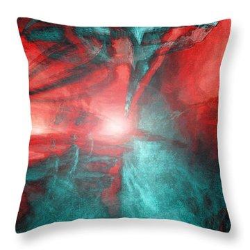 Morphing Thru Time Throw Pillow by Linda Sannuti