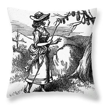 Mother Goose: Bo-peep Throw Pillow by Granger