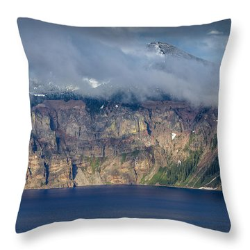 Mount Scott Cloud Shroud Throw Pillow by Greg Nyquist