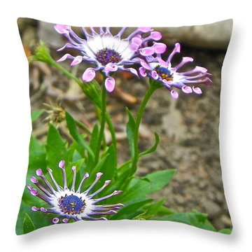 Mountain Floral Throw Pillow by Eve Spring