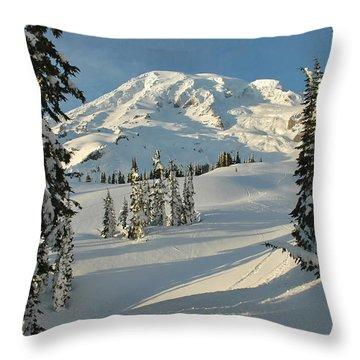 Mountainous Landscape In Mt. Rainer Throw Pillow by Raymond Gehman