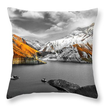 Mountains In The Valley 2 Throw Pillow by Sumit Mehndiratta