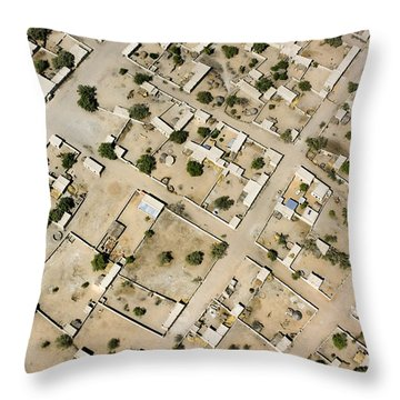 Moussoro Is A Large Town Northeast Throw Pillow by Michael Fay