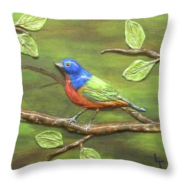 Mr. Bundting Throw Pillow by Lorrie T Dunks