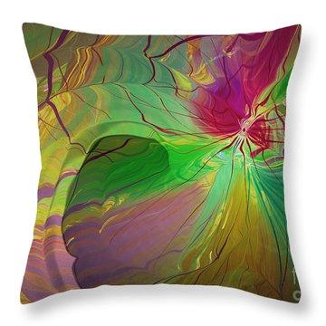 Multi Colored Rainbow Throw Pillow by Deborah Benoit