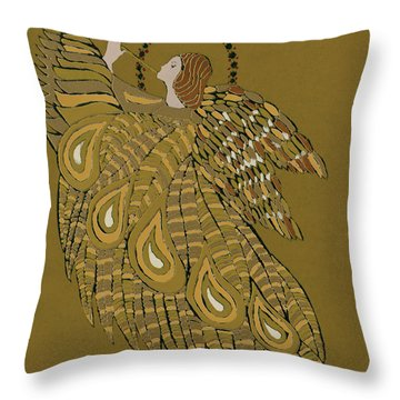Musical Angel Throw Pillow by Gillian Lawson