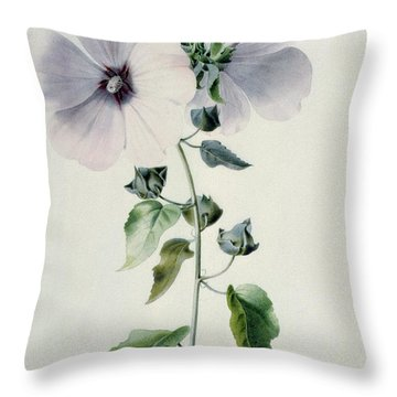 Musk Mallow Throw Pillow by Marie-Anne