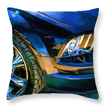 Mustang Throw Pillow by Robert Smith