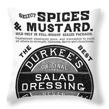 Mustard Ad, 1889 Throw Pillow by Granger