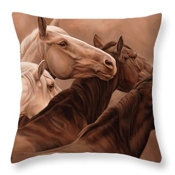 Mutual Support Throw Pillow by JQ Licensing