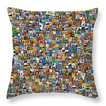 My Mosaic Throw Pillow by Mauro Celotti