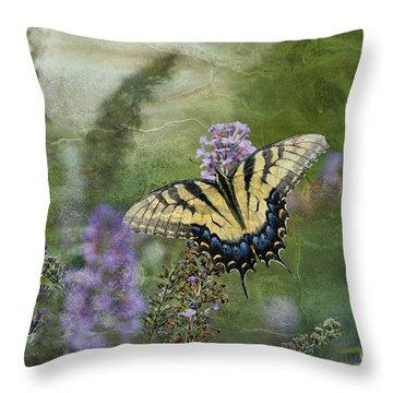 My Mothers Garden - D007041 Throw Pillow by Daniel Dempster