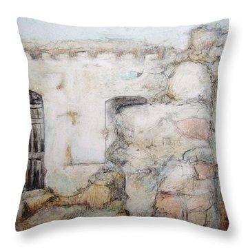 My Neighbor's Back Door Throw Pillow by Diane montana Jansson