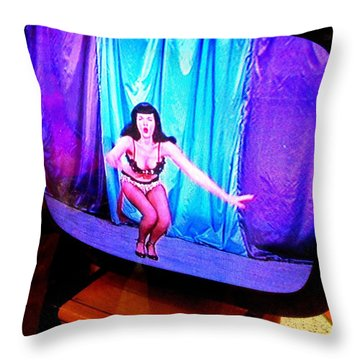 My Vegas Caesars 23 Betty Page Throw Pillow by Randall Weidner