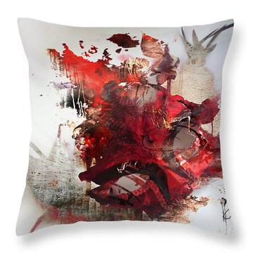 Mystery Of The Mask Throw Pillow by Jerry Cordeiro
