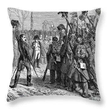 Napoleons Return, 1815 Throw Pillow by Granger