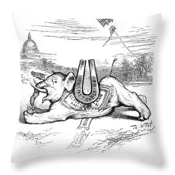 Nast: Blaine Cartoon, 1884 Throw Pillow by Granger