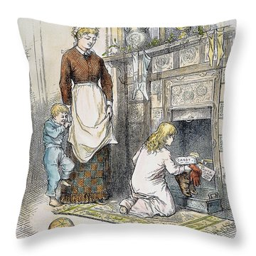 Nast: Santa Claus Throw Pillow by Granger