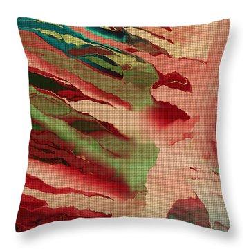 Native Abstract Weave Throw Pillow by Deborah Benoit