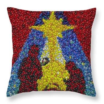 Nativity Mm Candy Mosaic Throw Pillow by Paul Van Scott