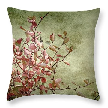 Nature On Parade Throw Pillow by Bonnie Bruno
