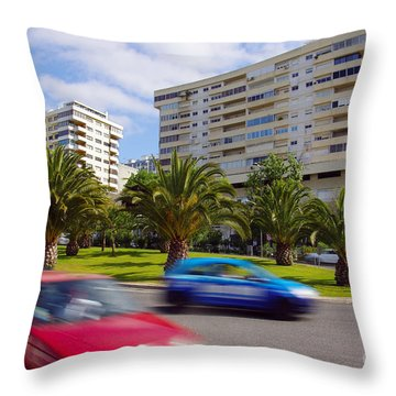 Neighborhood Unrest Throw Pillow by Carlos Caetano