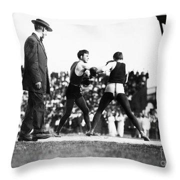 Nelson Vs. Hurley, 1902 Throw Pillow by Granger
