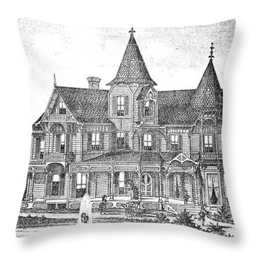 New Jersey: Atwood House Throw Pillow by Granger