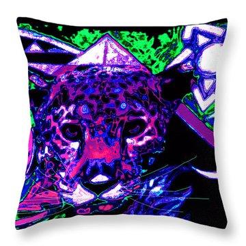 New Mu Jaguar Throw Pillow by Susanne Still