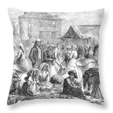 New Orleans: Market, 1866 Throw Pillow by Granger