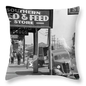 New Orleans: Waterfront, 1935 Throw Pillow by Granger