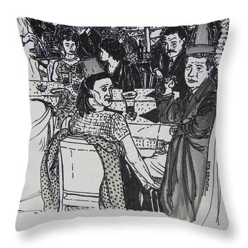 New Year's Eve 1950's Throw Pillow by Marwan George Khoury