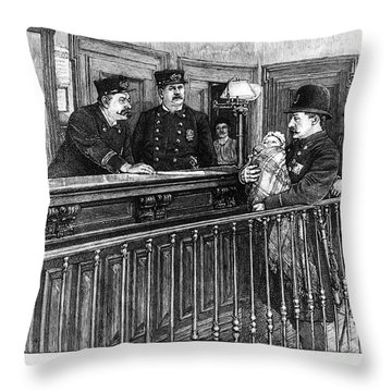 New York: Police Station Throw Pillow by Granger