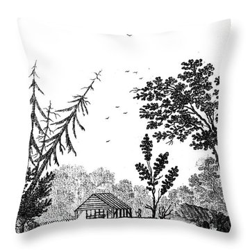 New York: Saw Mill, 1792 Throw Pillow by Granger
