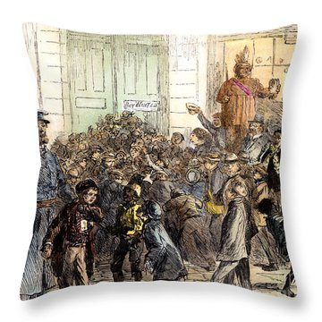 New York Street Scene Throw Pillow by Granger